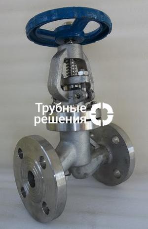 Клапан запорный прямоточный с пневмоприводом